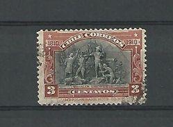 1910  BATALLA DEL ROBLE  3  CENTAVOS  OBLIT DOS CHARNIERE - Chile