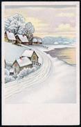 B0372 - Winterlandschaft - Litho Glückwunschkarte Weihnachten - Gel 1946 - Landpost Ehrenhain über Altenburg - Non Classificati