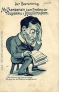 BOER WAR, Caricature, Chamberlain Receives Telegrams From The War Zone (1900) - Other Wars