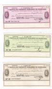 Banca Di Credito Agrario Di Ferrara. 50, 100 E 150 Lire. - [10] Chèques