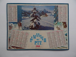 CALENDRIER P.T.T. POSTE POSTES 1968 ALMANACH CALENDAR KALENDER - Big : 1961-70