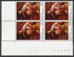 [69956]Belgique 1976, La Descente De Croix, Pierre-Paul Rubens, En Bloc De 4 Avec Coin Daté. - Kunst