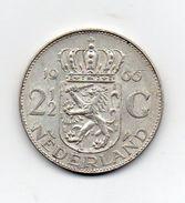 Paesi Bassi (Olanda) - 1966 -  2 E 1/2  Gulden - Argento - (FDC7351) - [ 8] Monete D'Oro E D'Argento