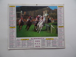 CALENDRIER P.T.T. POSTE POSTES 1973 ALMANACH CALENDAR KALENDER Chien Setter PMU Course Hippique - Calendars