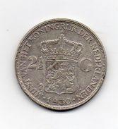 Paesi Bassi (Olanda) - 1930 -  2 E 1/2  Gulden - Argento - (FDC7353) - [ 8] Monete D'Oro E D'Argento