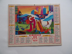 CALENDRIER P.T.T. POSTE POSTES 1978 ALMANACH CALENDAR KALENDER Mickey Donald Walt Disney - Tamaño Grande : 1971-80