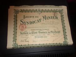 SYNDICAT MINIER (1907) - Acciones & Títulos