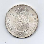 Paesi Bassi (Olanda) - 1973 -  10 Gulden - Argento - (FDC7356) - [ 8] Monete D'Oro E D'Argento