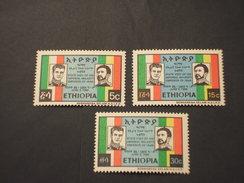 ETHIOPIA - 1968 VISITA 3 VALORI - NUOVI(++) - Ethiopie