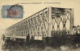 Djibouti, Le Pont D'Aousche (1927) Stamp Postcard - Djibouti