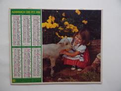 CALENDRIER P.T.T. POSTE POSTES 1981 ALMANACH CALENDAR KALENDER Fillette Mouton Lapin - Big : 1981-90