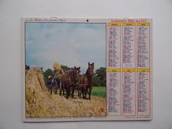 CALENDRIER P.T.T. POSTE POSTES 1982 ALMANACH CALENDAR KALENDER Scène Agricole Agriculture Attelage Mouton Berger - Big : 1981-90