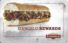 D'Angelo Rewards / Pap Gino's - Customer Loyalty/Membership Card - Other Collections