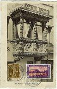 St. Gallen, Café Greif, Erker, Alte Postkarte 1930 - SG St. Gallen