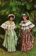Republica De Panama, Actractivas Senoritas Panamenas, Vistiendo La Montuna, Attactive Young Ladies  Wearing The Montuna - Panama