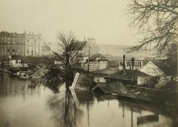 Paris Inondations De 1910 Crue De La Seine Entrepots De Vin Ancienne Photo Anonyme - Places