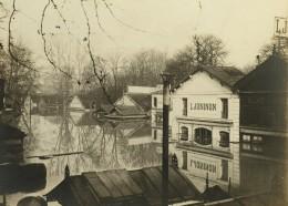 Paris Inondations De 1910 Crue De La Seine Vins L. Joninon Ancienne Photo Anonyme - Places