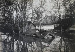Paris Inondations De 1910 Bercy Transports Pellerin Seine Ancienne Photo - Places