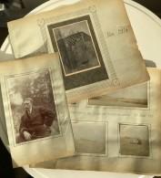 WWI Mort De L'Aviateur Jean Bailleux Courteron Gyé-sur-Seine Lot De 15 Photos Anciennes 1914-1915 - Aviation