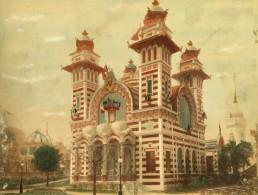 Paris Exposition Universelle De 1889 Palais De La Bolivie Ancienne Photo Colorisee - Photographs