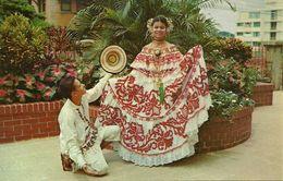 Republica De Panama, Una Senorita Luciendo La Pollera, A Young Lady  Wearing The Pollera - Panama