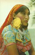 Republica De Panama, India De Las Islas De San Blas, Indian Woman Of San Blas Islands In Her Dress And Adornments - Panama