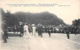 BRUXELLES - 75e Anniversaire De L'Indépandance Nationale - Fetes Patriotiques De Laeken Du 16/07/1905 - Arrivée Du Roi - Feesten En Evenementen