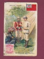 070118 CHROMO Gaufré Chocolat POULAIN - La Poste Au NATAL - Timbre Facteur Drapeau Coiffe Plume Colon - Afrique Du Sud (1961-...)