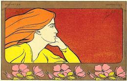 [DC11256] CPA - MEUNIER HENRI - ART NOUVEAU - FEMMES ET FLEURS - Non Viaggiata - Old Postcard - Meunier, G.