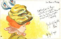 [DC11258] CPA - MEUNIER HENRI - ART NOUVEAU - DONNA - LE CHIC A PARIS - PERFETTA - Non Viaggiata 1901 - Old Postcard - Meunier, G.