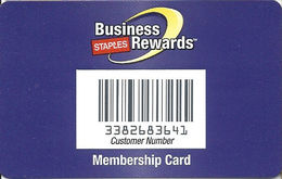 Staples Business Rewards Membership Card - Laminated Paper Card - Other Collections