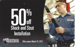 Pepboys Auto Rewards - 50% Off Shock & Strut Installation - Cardboard Card - Other