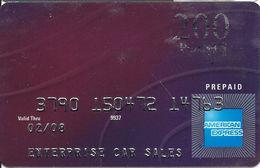 Enterprise Car Sales - American Express 200 Points Prepaid Reward Card - Gift Cards