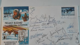 Australian Antarctic Project Blizzard FDC Cover - Signatures- 1984 - - Brieven En Documenten