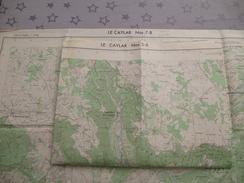 LE CAYLAR (34) LOT De  2 CARTES  IGN Au 1/25000 - Détails Voir Les Scans - Topographical Maps