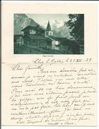 Arolla, Lettre Illustrée, Pigne D'Arolla  (28.12.1939) - Manuscrits