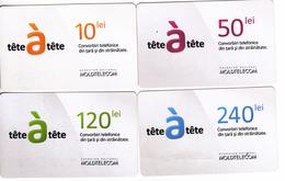 Moldova   Moldavie  , Prepaid Phonecards - Moldtelecom - Tete-a-tete , Set Glossy Paper , Used - Moldavie