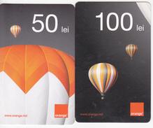 Moldova ,  Moldavie  Moldau ,  Prepaid Phonecard - Orange , 2013 ;  50 Lei + 100 Lei , Paper , Used - Moldova
