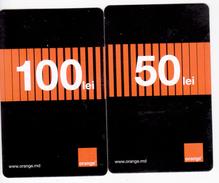 Moldova  , Moldavie  Moldau ,  Prepaid Phonecards - Orange , 2017  , 50 Lei , 100 Lei , Paper , Used - Moldavie
