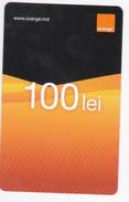 Moldova  , Moldavie  Moldau ,  Prepaid Phonecard - Orange , 2015  , 100 Lei , Paper , Used - Moldavie