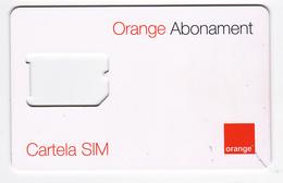 Moldova ,  Moldavie  Moldau ,  SIM Phonecard - Orange , Abonament , Used - Moldavie