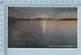 Knowlton Quebec Canada- Sunset On Brome Lake -  Postcard Carte Postale - Quebec