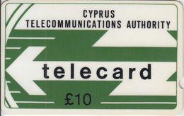 CYPRUS - Cyta Logo, GPT, Deep Notch, 10 £, 10CYPC, % 40.000ex, 1988, Used - Cyprus