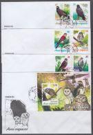 2017-FDC-23 CUBA 2017 MNH FDC. AVES RAPACES. BIRD AVES PAJAROS SIJU BUHO GAVILAN. - FDC
