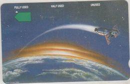 Rwanda -  Anritsu, Telstra, Deep Notch, Satellite Orbiting The Earth, 20$, 8.000ex, 9/94, Used - Rwanda