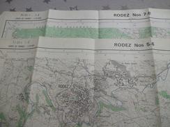 RODEZ (12) LOT De  2 CARTES  IGN Au 1/25000 - Détails Voir Les Scans - Topographical Maps