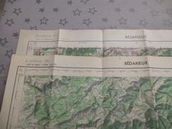 BEDARIEUX (34) LOT De  2 CARTES  IGN Au 1/50000 - Détails Voir Les Scans - Topographical Maps