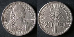 INDOCHINE 20 Cent 1941 S FRANCAISE INDOCHINA PORT OFFERT - Colonias