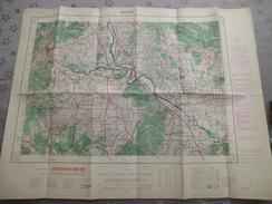 ANDUZE (30)  CARTE  IGN Au 1/50000 - Détails Voir Les Scans - Topographical Maps