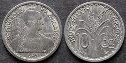 INDOCHINE  10 Cent 1945  B  FRANCAISE  INDO-CINA   INDOCHINA  PORT OFFERT - Cambodia